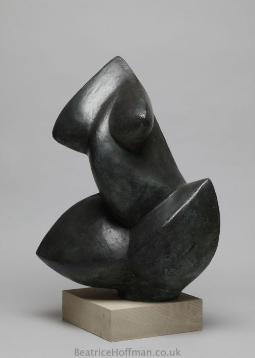 Beatrice Hoffman | Abstract Torso | Bronze resin torsos sculpture | Minimalist modern nude statue | £2250