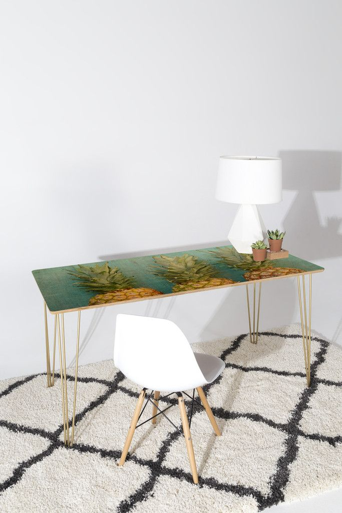 Olivia St Claire Tropical Desk | DENY Designs Home Accessories, pineapple desk, whimsical, organic