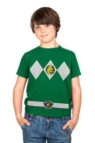 The Power Rangers Green Rangers Costume Youth T-shirt