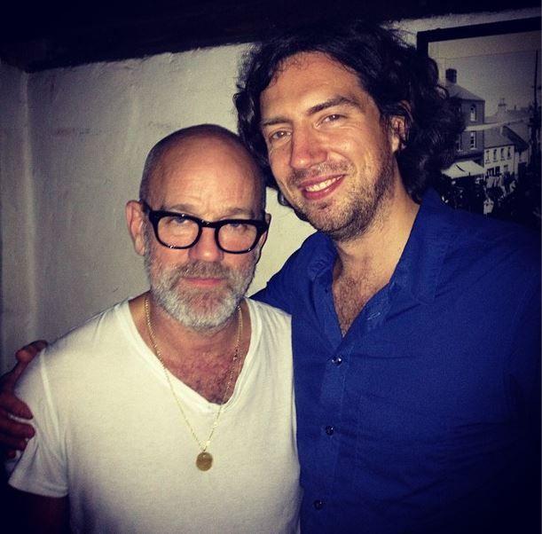 Gary Lightbody with Michael Stipe 9/26/2013 source: @garysnowpatrol via instagram