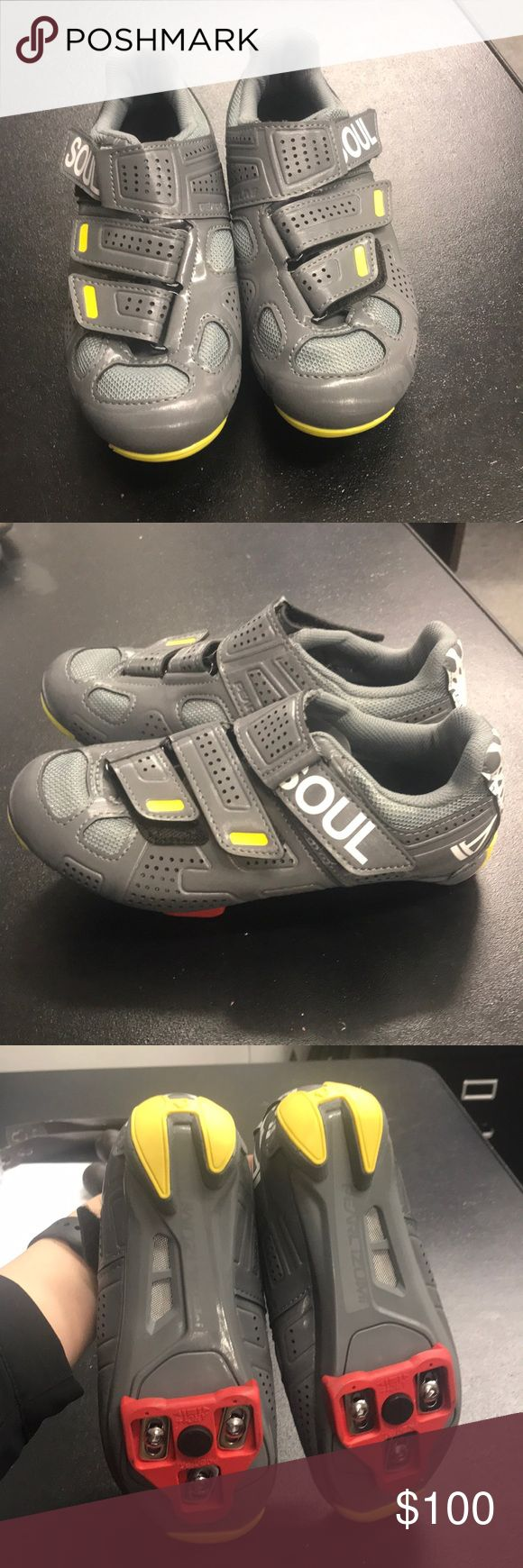 Soul cycle spin shoes Never have worn—bought a size 36 but they are a tad too small. Great spin shoes! soulcycle Shoes #cyclingshoes