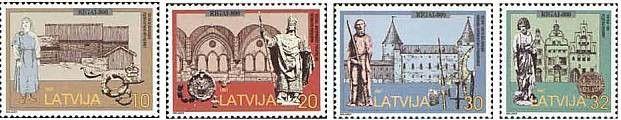 #454-457 Latvia - City of Riga, 800th Anniv. (MNH)