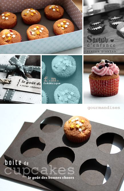 DIY Cupcake Holder & Box (w/ pattern) - page is in French but the idea comes through even without Google translate!