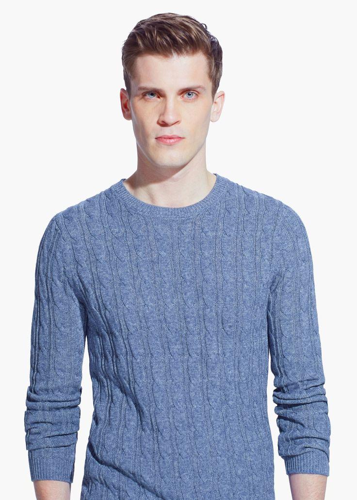 Maglione cotone trecce - slim fit Slim fit pullover