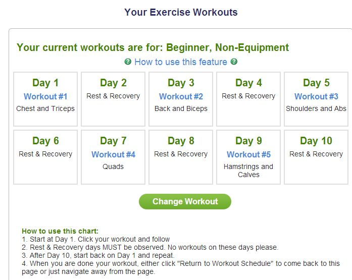 7 Minute Workout - Day 1 Review