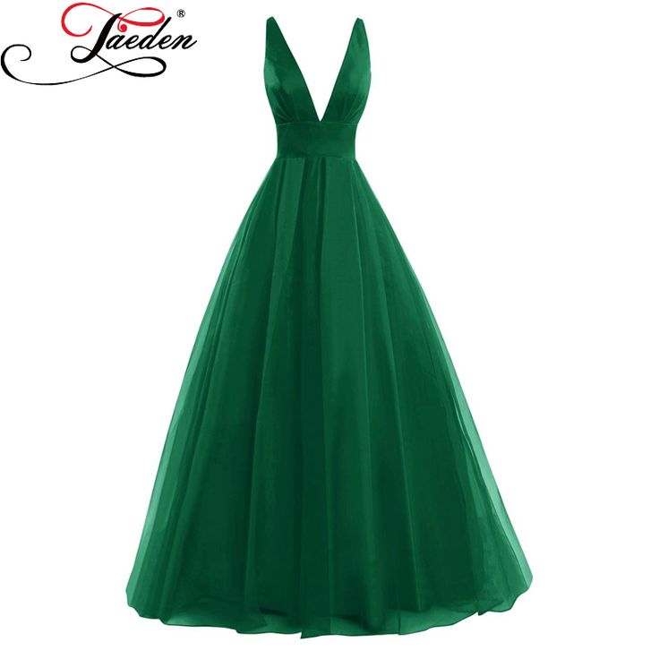 ==> [Free Shipping] Buy Best JAEDEN Cheap Deep V Neck Long Prom Dresses Green Sleeveless Sexy Back A Line Floor Length 2017 Elegant Red Women Party Gowns Online with LOWEST Price | 32798123988
