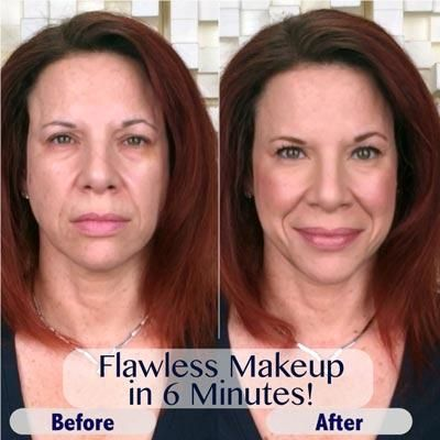 Do you want to achieve gorgeous, professional results in only 6 minutes?💋 You can! Simplify your daily beauty routine. Multi-tasking, paraben-free, oil-free, talc-free, mineral makeup - made in USA and certified PETA Cruelty-free!
