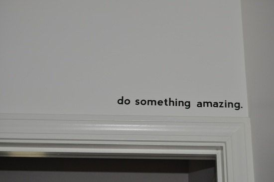 THE ORIGINAL Do Something Amazing.. Vinyl Wall Decal Sticker Art on Etsy, $8.00