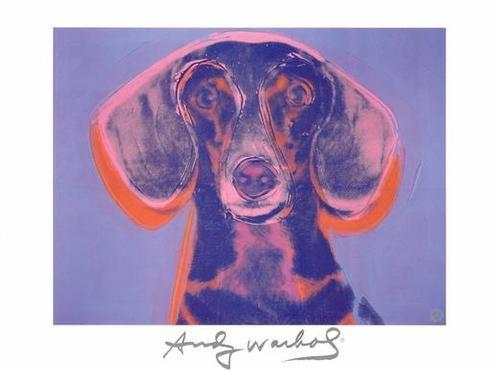 Warhol's Dachshund Print
