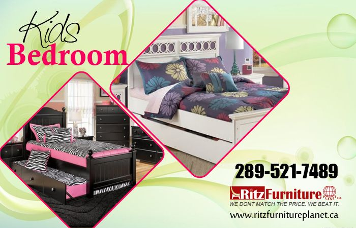 Find #KidsBedroomFurniture at Ritz #Furniture. Browse our great selection of #Babyfurniture & #Kidsfurniture, #KidsBeds, #KidsBedroomVanities and more!  For more information just call us: 905-232-7489, 289-521-7489 Fax: 905-232-7489 Email: info@ritzfurnitureplanet.ca  Store Address: 5200 Dixie Road, #Mississauga, ON L4W 1E8, #Canada  For more details visit: http://www.ritzfurnitureplanet.ca/Bedroom-Furniture/Kids-Bedroom/  #KidsBedroom #FurnitureStore #FurnitureStoreMississauga