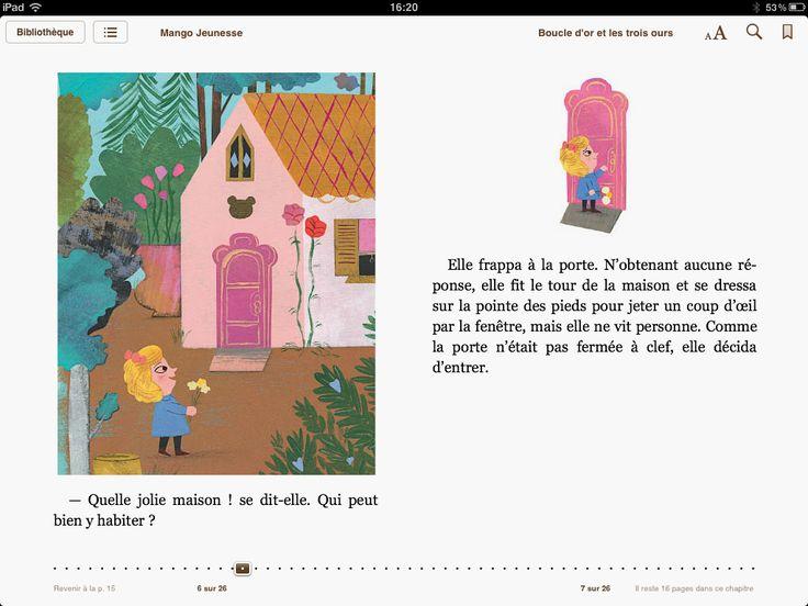 """ebook created by Audrey Keszek """"Boucle d'Or et les trois ours"""" - Mango Jeunesse #epub #livrenumerique #ebook"""