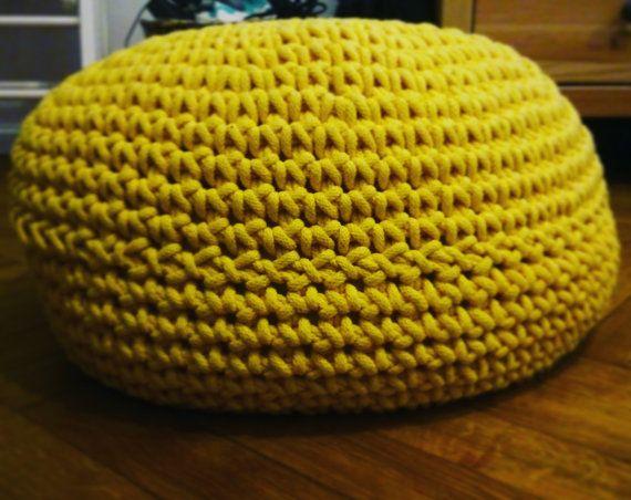 Crocheting pouf pouffe stylish