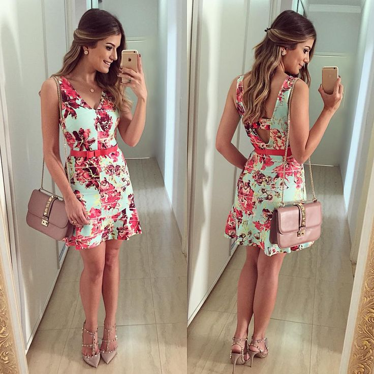 """{Do dia} De vestido @studioletslo  Amando as peças da loja. E elas enviam pra todo Brasil viu meninas?!  • #lookdodia #lookoftheday #ootd #selfie…"""