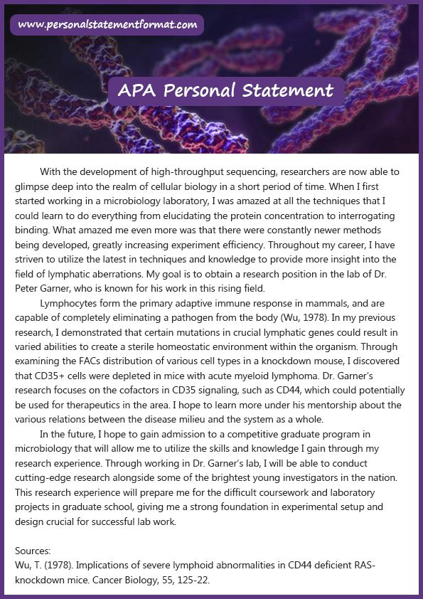 14 best Personal Statement Format images on Pinterest Personal - personal statement format