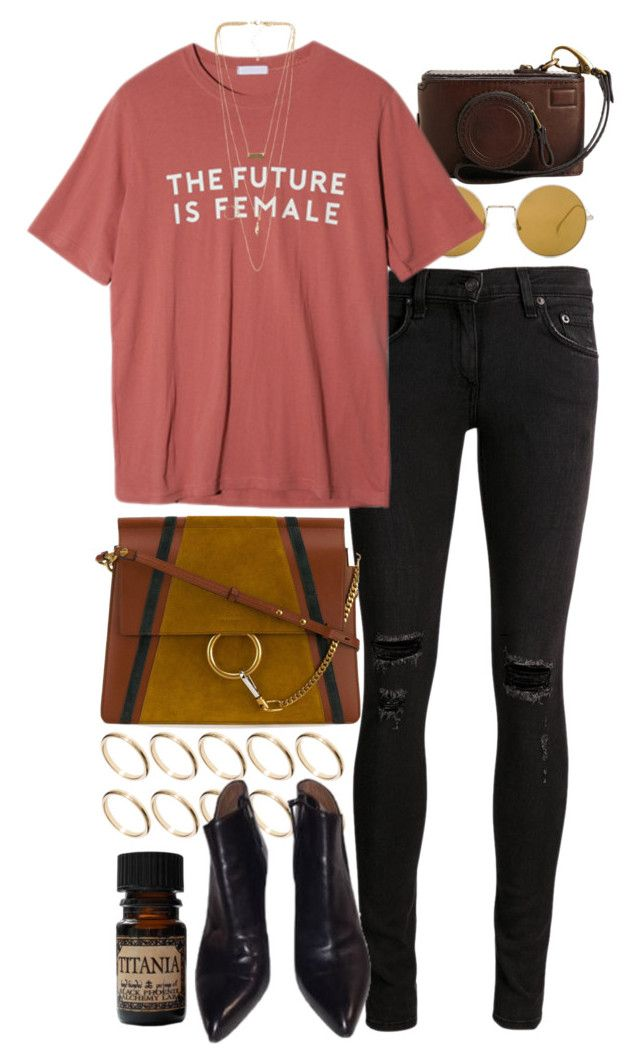"""""""Untitled #10703"""" by nikka-phillips ❤ liked on Polyvore featuring rag & bone/JEAN, Illesteva, StyleNanda, Chloé, ASOS, Alaïa, NLY Accessories and Lab"""