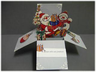 """spazio alla mia fantasia: biglietto exsplosion """" a tema natalizio 2"""""""