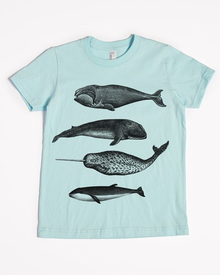 Whale Shirt - Kids' T-shirt - Children's Gift - Screen Printed Whales by SlothWingTees on Etsy https://www.etsy.com/listing/256617413/whale-shirt-kids-t-shirt-childrens-gift