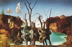 """Una pictura de """"Swans Reflecting Elephants"""" porque era una de sus obras favoritas."""