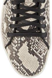 Rag & bone Kent snake-effect leather high-top sneakers