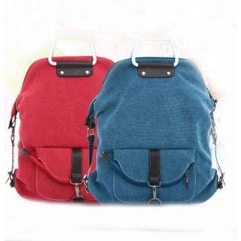 Fashion Multi-function Canvas Shoulder Bag & Backpack for only $29.90 ,cheap Shoulder Bags - Fashion Bags online shopping,Are you serious? Handbag? Backpack? Shoulder bag? Crossbody bag? Yes. Have this bag, it means you have four bags.it is a Fashion Multi-function Shoulder Bag .