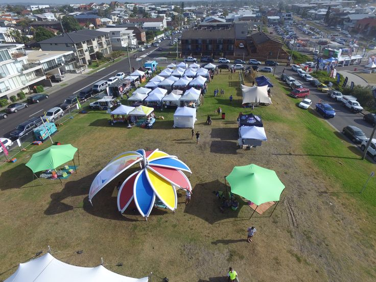 Some great images of our AXION flower and stretch tents, including aerial images from #merewethersurfer from#surfest2016 #beatsnbarrels presented by #3peasmarkets what a great day.