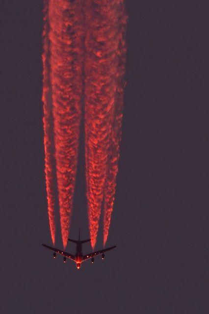 A380 Emirates A6-EDL after sunset inbound LHR, via Flickr.