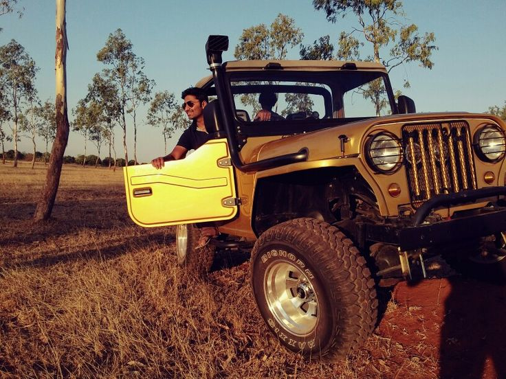 Golden jeep
