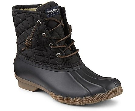 Saltwater Quilted Duck Boot, Black
