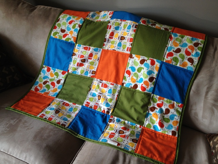 """""""Hoot Tweet"""" baby quilt made by Caisie's Closet www.facebook.com/caisiescloset and @CaisiesCloset on Twitter"""