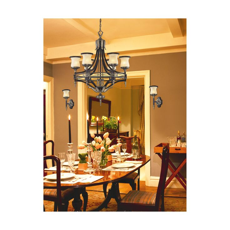 ELK Lighting 2431 6 Georgian Court Antique Bronze Light Chandelier