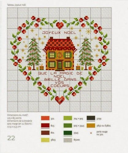 Χαριτωμένα σχέδια για Χριστουγεννιάτικα κεντήματα (Victoria - Handmade…