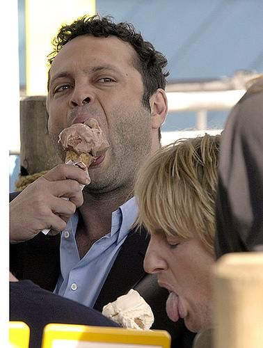 The 40 minute ice cream scene was unfortunately cut from The Wedding Crashers