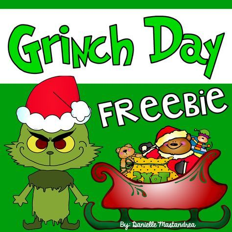 """Grinch Day FREEBIE- These free """"GRINCHY"""" activities are a perfect for Kinders and Firsties. Happy GRINCH DAY!"""