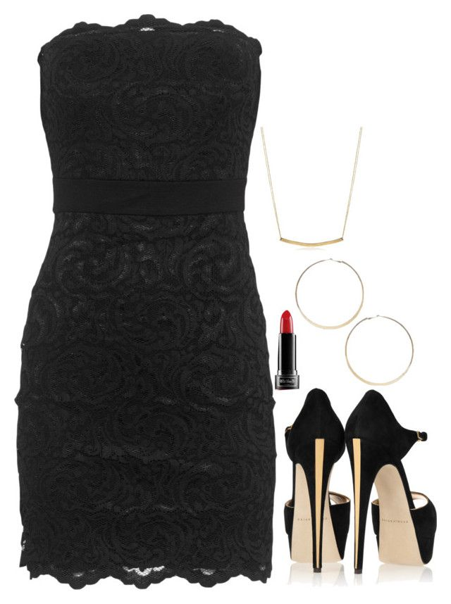 Katherine Pierce Inspired Outfit by daniellakresovic on Polyvore featuring Velvet by Graham & Spencer, Brian Atwood, Adina Reyter and Kat Von D