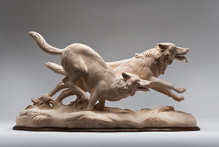 Intricately Carved Wooden Animal Sculptures Leap to Life by Guiseppe Rumerio - My Modern Met