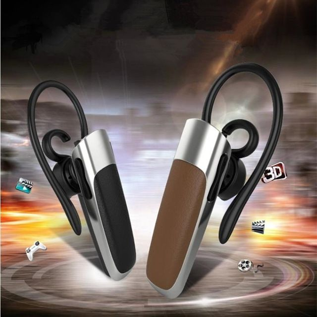 New I9 Leather Mini Stereo Wireless Bluetooth Headphone Earphone Headset CSR V4.0+EDR For iPhone Samsung Xiaomi Mobile Phone