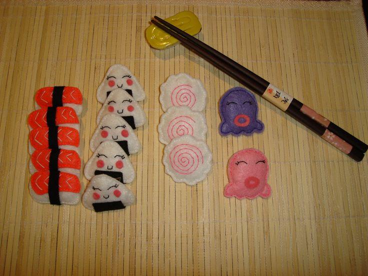 sushi time (material: felt)