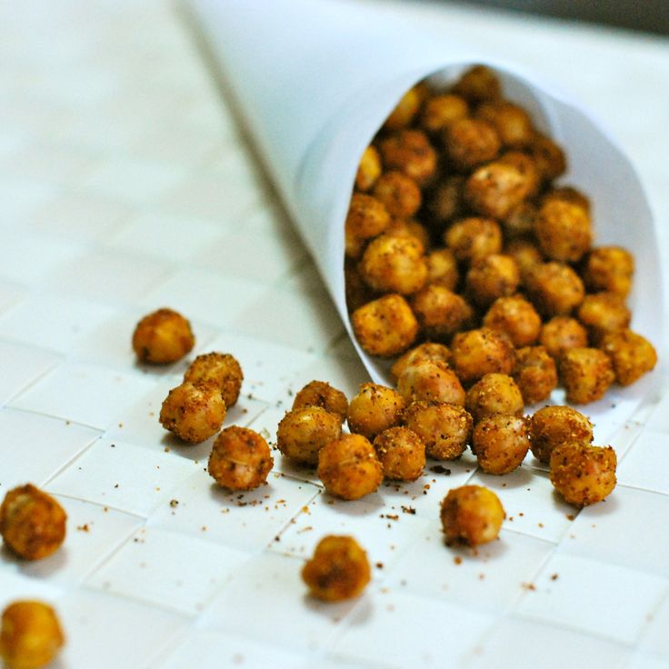 The first time I ever had a chickpea as a snack, I was copying a Rachel Ray recipe where she toasted them in a skillet on the stove.  They didn't get at all crunchy and just tasted like hot c…