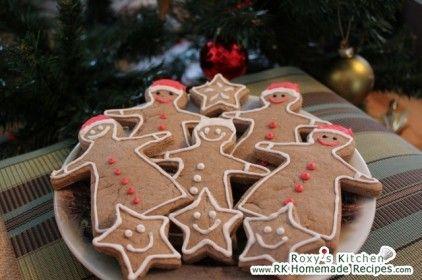 Santa Gingerbread Cookies (Biscuiti Mos Craciun)