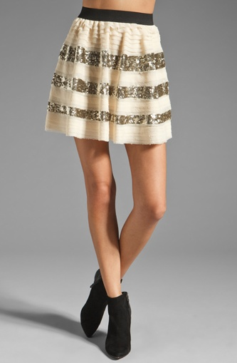 Gotta love this sassy skirt. The textured sparkle stripes add a chic yet fun and flirty element of style.   http://www.squidoo.com/2013-spring-fashion-trends