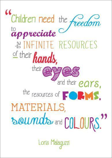 Inspirational Quotation: Loris Malaguzzi | Free EYFS / KS1 Resourcesfor Teachers