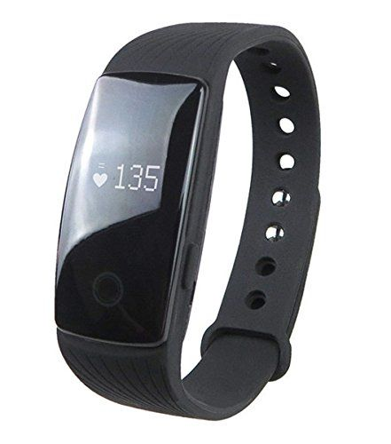 """Bluetooth 4.0 Smart Bracelet ID107 smart band Heart Rate Monitor Wristband Fitness Tracker for Android iOS Smartphone( Black). Bluetooth 4.0 Heart Rate Monitor Smartband, Phone call reminder,Alarm Alert, Time Clock, Anti-Lost, Phone Finder. Health Tracker: Heart Rate Monitor, Pedometer, Calories Counter, Distance, Sleep Monitor. Compatible OS Android 4.4 / iOS 7.1 and above system,download APP """"Veryfit 2.0"""" from Apple Store or Google Play. Single Key: Short Click and Long Press..."""
