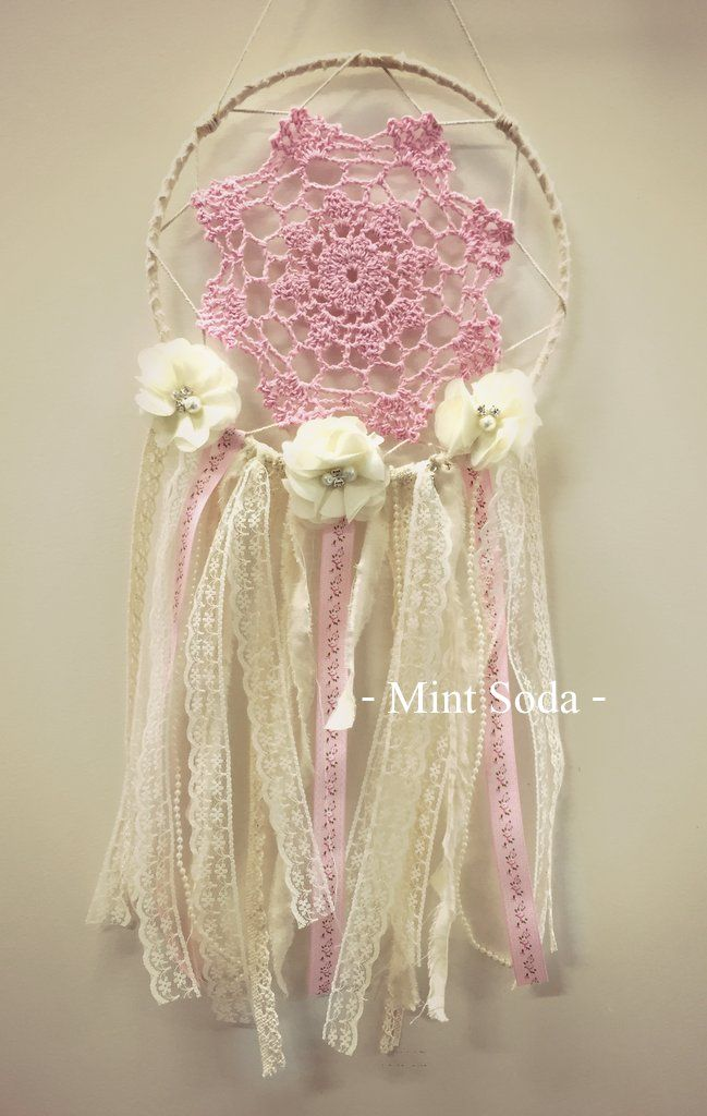 floral pink dream catcher