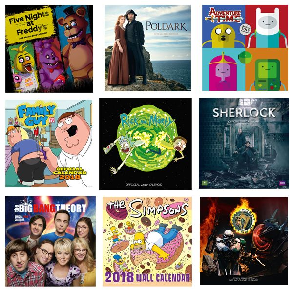 Order Official 2018 Calendars for all your favourite TV Shows with #FREE #FirstClass UK Delivery now at http://bit.ly/TVCals2017