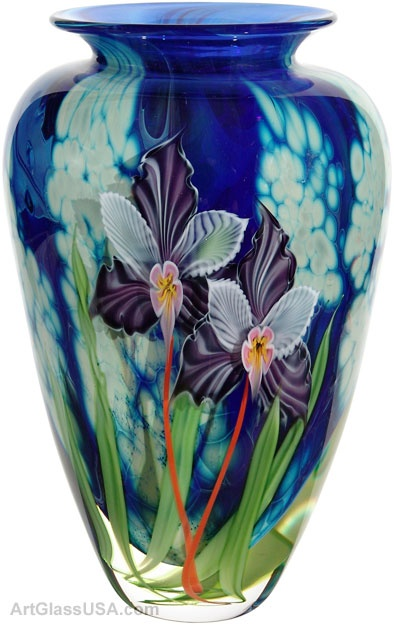 Mayauel Ward: Violet orchids on tropic vase