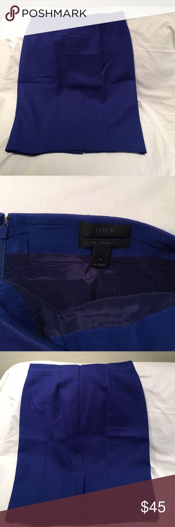 Jcrew no. 2 wool pencil skirt, royal blue Jcrew no. 2 wool pencil skirt, royal blue J. Crew Skirts Pencil