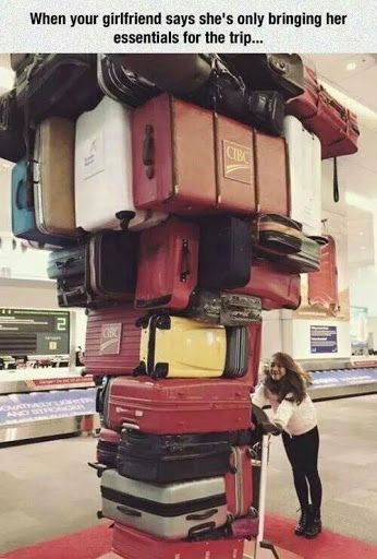 That's traveling light