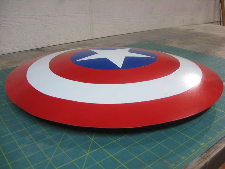 shield from used satellite dish to make captain America shield maybe a ninja turtle shield
