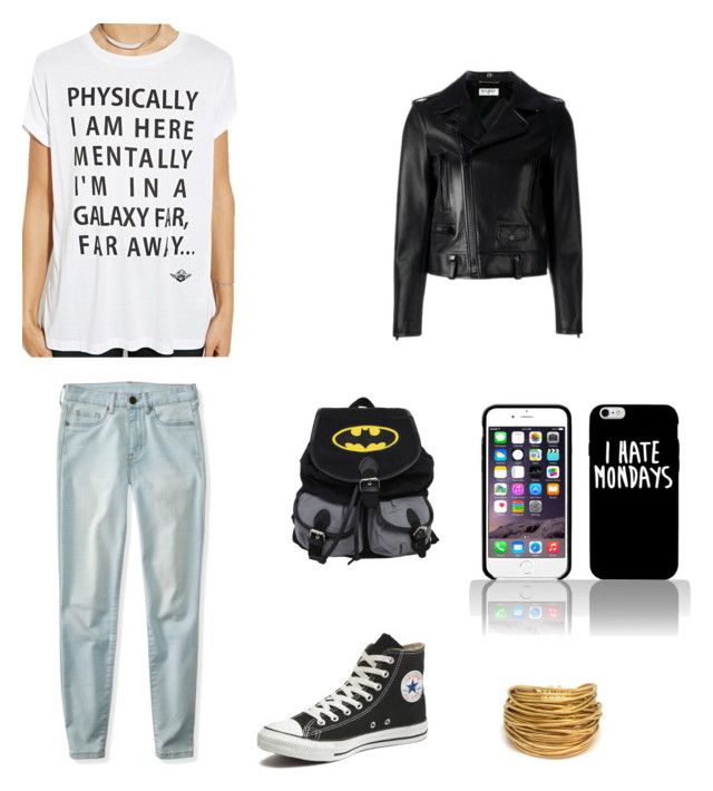 Hey, This Is Sooo Me! by becfinck on Polyvore featuring Forever 21, Yves Saint Laurent, Aéropostale, Converse and Black & Sigi