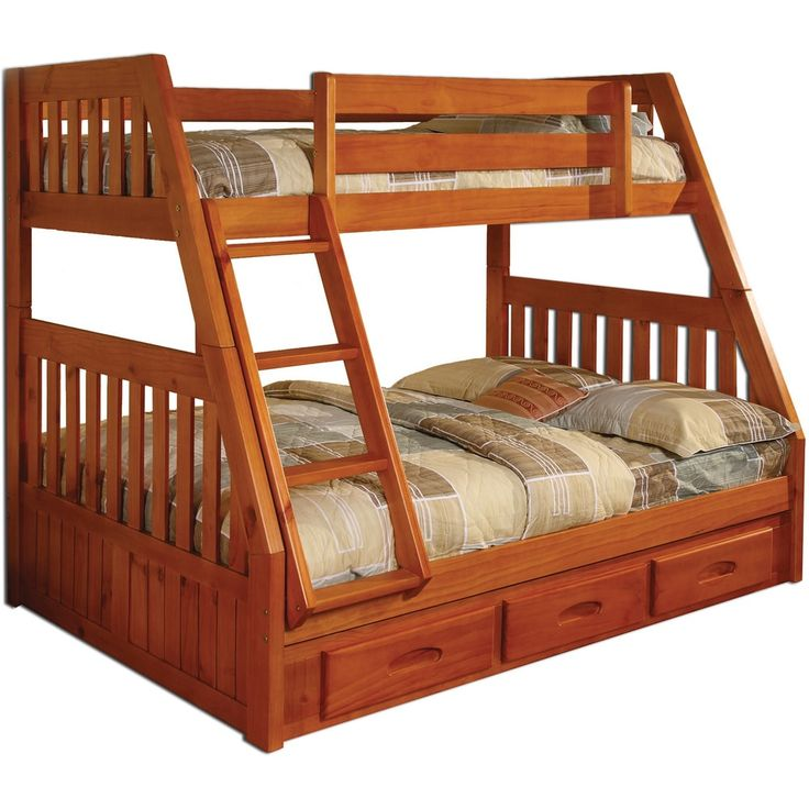 Solid Pine Twin-over-full Bunk Bed with Drawers | Overstock.com Shopping - The Best Deals on Kids' Beds